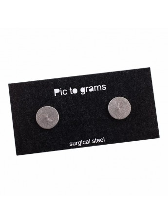 Naušnice Pic to grams - Kruh gravírovaný
