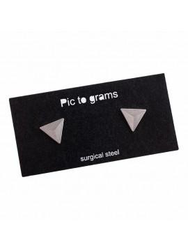 Naušnice Pic to grams grav - Trojůhelník 3D