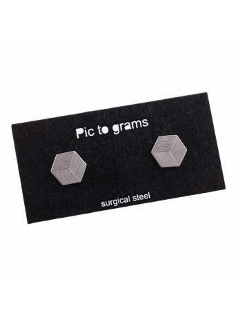 Naušnice Pic to grams - Trojůhelník gravírovaný
