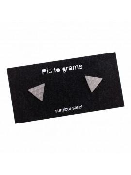 Naušnice Pic to grams grav - Trojůhelník s trojůhelníky